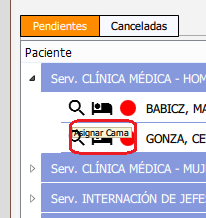 Ingreso de pacientes