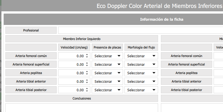Eco Doppler Color Arterial de Miembros Inferiores